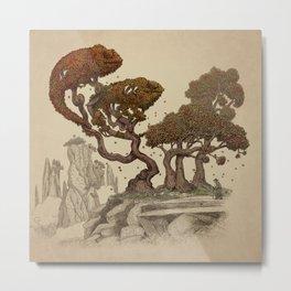 Autumn Chameleons  Metal Print