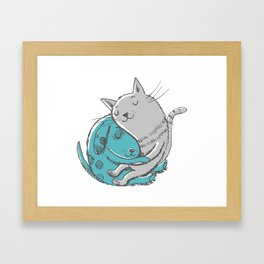 Hugtime Blues Framed Art Print