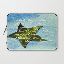 Reach High with Quote Laptop Sleeve