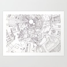 The Underground City Art Print