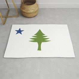 Maine Flag Rug