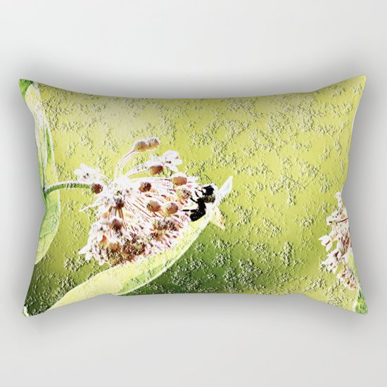 Blooming in the morning (granite) Rectangular Pillow