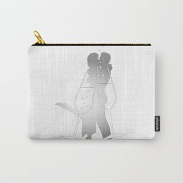 Champagne Glass Kiss Carry-All Pouch