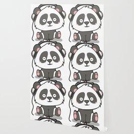 Chilling Panda Headphones Musik Cute Present Gift Wallpaper