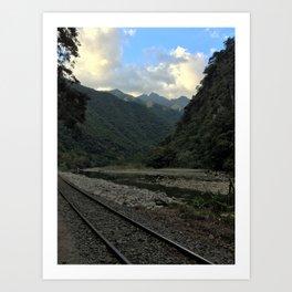 Tracks to Machu Picchu  Art Print
