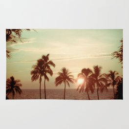 Sunset at Mauna Kea Beach, Hawaii Mint Rug