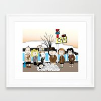 peanuts Framed Art Prints featuring Twin Peanuts by Jason Young