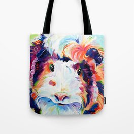 Abyssinian Guinea Pig in Color Tote Bag