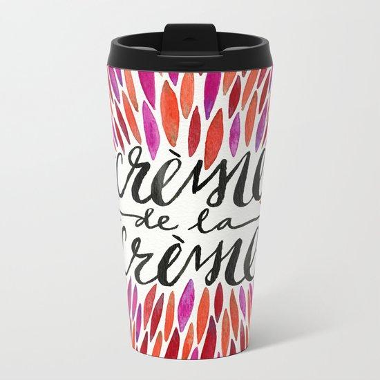 Crème de la Crème – Pink Palette Metal Travel Mug