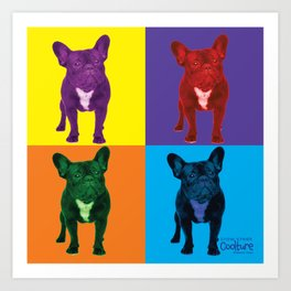 Four French Bulldogs by Crow Creek Cool Art Print