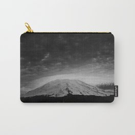 Mount Saint Helens Black and White Carry-All Pouch