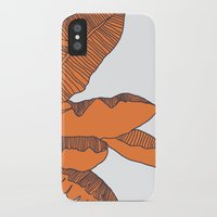 banana leaf iPhone & iPod Cases featuring Banana Leaf Print by Home by Bear