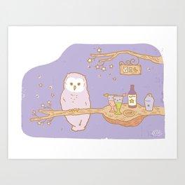 The Owl's bar Art Print