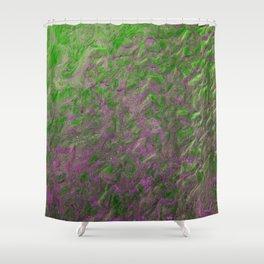 Green Purple Sand Shower Curtain