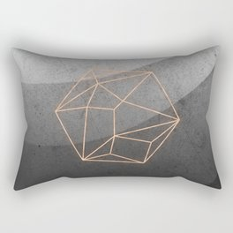 Geometric Solids on Marble Rectangular Pillow
