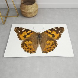 """Butterfly species Vanessa cardui """"Painted Lady"""" Rug"""