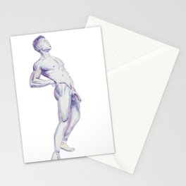Muscular Jerome posing (frontal) Stationery Cards