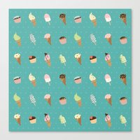 dessert Canvas Prints featuring Dessert by Olya Yang
