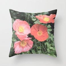 Papaveraceae Throw Pillow