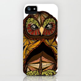Abstract Owl iPhone Case