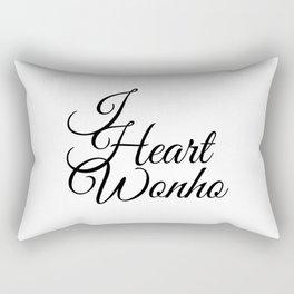 I Heart Wonho - Monsta X Rectangular Pillow