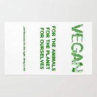 vegan Area & Throw Rugs featuring Why Vegan? by VegArt