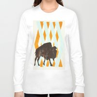 buffalo Long Sleeve T-shirts featuring Buffalo by Wood Grian & Grits
