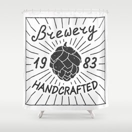 Brewery Handcrafted Fashion Modern Design Print! Beer style Shower Curtain