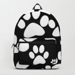 Paw Print Pattern Backpack