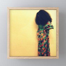 Afro : Vintage Style Framed Mini Art Print
