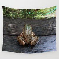 frog Wall Tapestries featuring Frog by Paulettepageant
