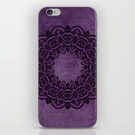 Circle in Purple iPhone Skin