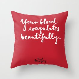 Blood-red Throw Pillow