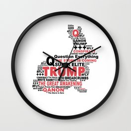 QAnon Art Follow the White Rabbit WWG1WGA Light Wall Clock