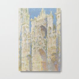 Rouen Cathedral West Facade Sunlight by Claude Monet, 1894 Metal Print