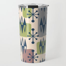 Mid Century Modern Abstract Atomic Diamonds 429 Travel Mug