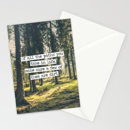 Dirt Paths Stationery Cards