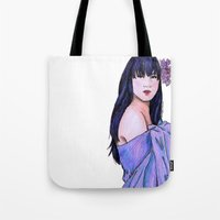 blanket Tote Bags featuring Blanket by Margret Stewart