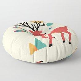 Deer Autumn Floor Pillow