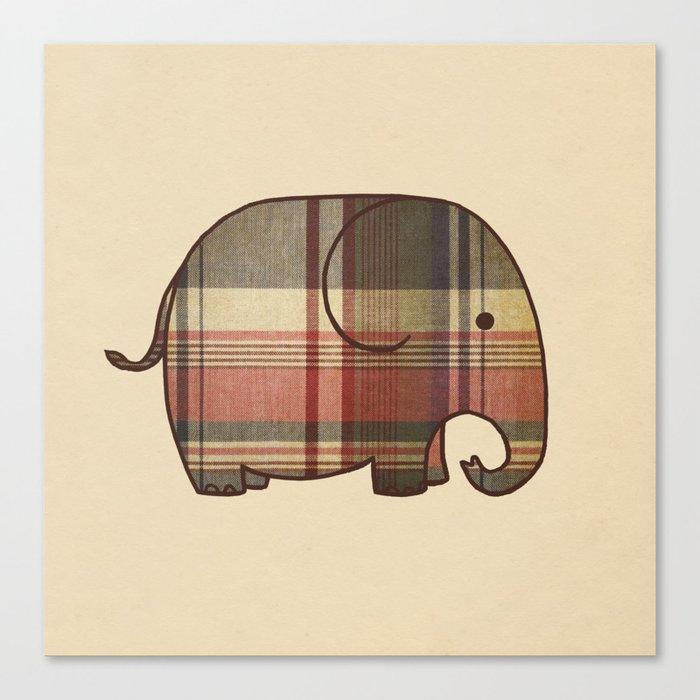 Plaid Elephant  Canvas Print