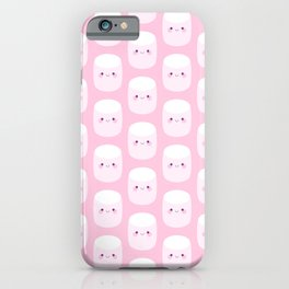 Cute pink marshmallows iPhone Case