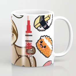 Sloth Sushi Tokyo Coffee Mug