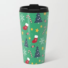 It's Christmas Time Colourful Pattern Travel Mug