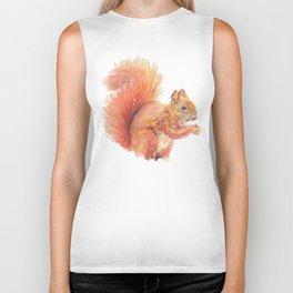 Red Squirrel Biker Tank
