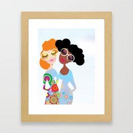 Flower and flower Framed Art Print