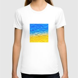 Sunshine and Blue Sky Quilted Abstract T-shirt