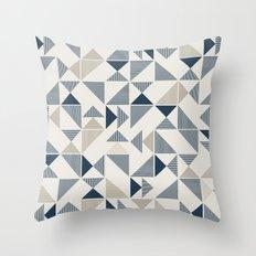 Geometric Mosaic Triangle Pattern Throw Pillow