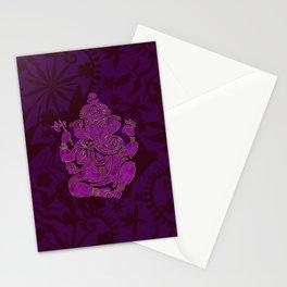 Ganesha Elephant God Purple And Pink Stationery Cards