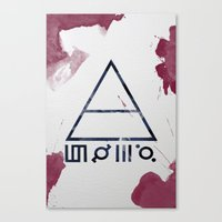 30 seconds to mars Canvas Prints featuring 30 Seconds of Mars Watercolor by sky0323