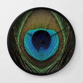 Peacock Feather Symmetry IV Wall Clock